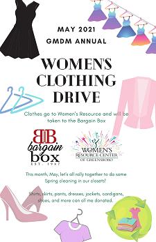 Annual GMDM Women's Clothing Drive